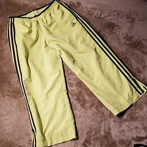 Adidas Fluorescent Green Capri Wind Pants Sz M